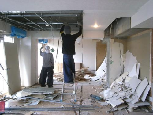 板橋区中台マンション解体工事 OYボード処分