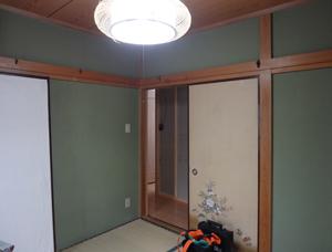 Befor:和室でした。