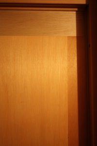 合板が3枚突き合っている部分も、ご覧の通り隙間ナシ。※下地です。